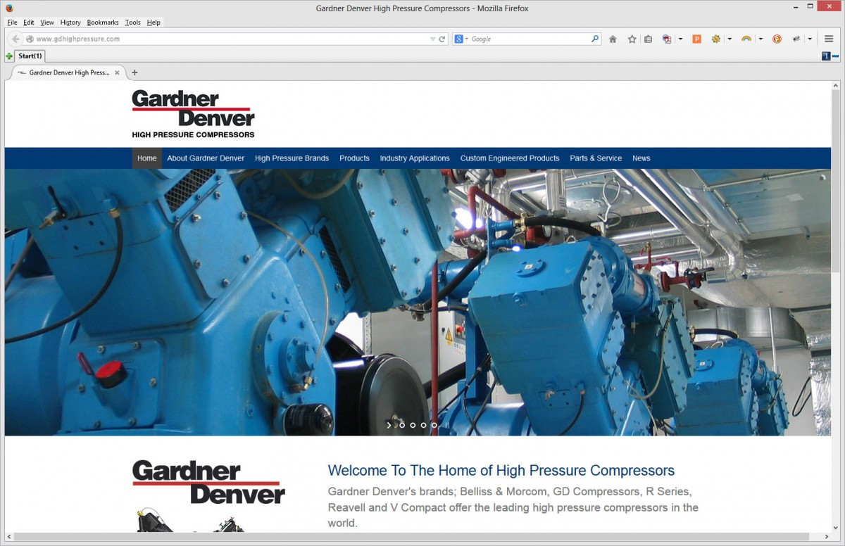 Gardner Denver Web Build